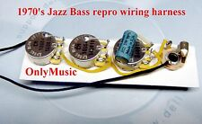 COMPATIBLE WITH 1970 FENDER JAZZ BASS REPRO VINTAGE WIRING HARNESS