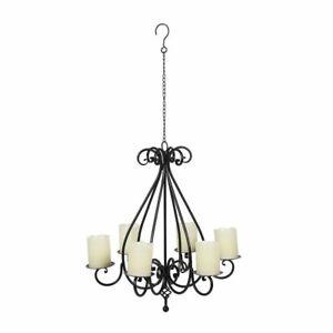 Kronleuchter Metall Kerzenhalter Deckenhänger Kerzenleuchter antiksch 6-arm 60cm