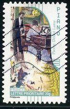 TIMBRE FRANCE AUTOADHESIF OBLITERE N° 399 / ART / LA MUSIQUE / PIANO