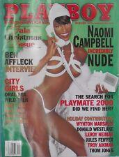 NAOMI CAMPBELL December 1999 PLAYBOY Magazine BEN AFFLECK / BROOKE RICHARDS