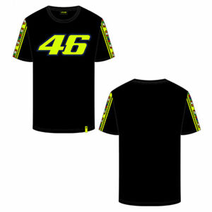 VR46 Tapes Casualwear Fashionable T-Shirt Black / Fluo Yellow
