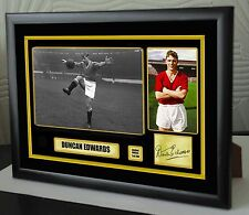 """Duncan Edwards Framed Canvas Print Signed Great Gift Ltd Edition """"Great Gift"""""""