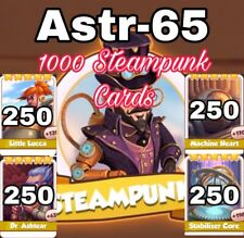 1000 Steampunk Cards- 250 Each From Photo- Ultra Fast Sending- Coin master cards