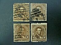 USA Lot of 4 1898 $.04 Lincoln #280 Used Regular Issue-See Description & Images
