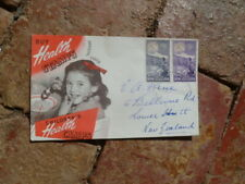 NEW ZEALAND HEALTH STAMPS OFFICIAL COVER 1945 2d & 1 1/2d