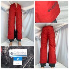 Columbia Omni Heat Ski Pants Sz 14/16 Women Red Nylon Lined YGI B0-329