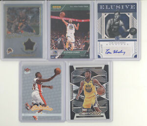 Golden State Warriors auto jersey serial # prizm RC 10 card lot Stephen Curry