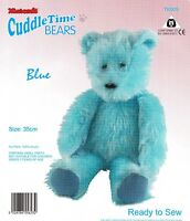 CUDDLETIME BEARS BLUE TEDDY MINICRAFT CUDDLY TOY MAKING KIT Ready to Sew