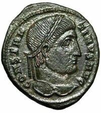 """Constantine I The Great AE19 """"XX Star in Wreath"""" Heraclea 324 AD RIC 64 EF"""