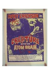 Roky Erickson Silkscreen Poster Creature With The Atom Brain Signed And Numbered