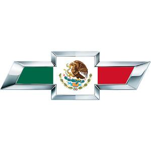 2 Silverado Mexican Flag Universal Chevy Bowtie Vinyl Sheets Emblem Overlay