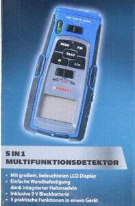 Multifunktionsdetektor 5 in1 Stromleitungen Metall Holz Laser Ferrex® Neu OVP