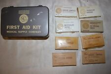 Vintage  INDIVIDUAL Jeep Truck Car FIRST AID KIT Complete