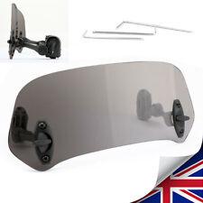 Motorcycle Windshield Clip On Extension Spoiler Adjustable Wind Deflector Smk U3(Fits: Benelli)