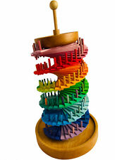 Grimm's Large Wooden Rainbow Bell Tower Montessori