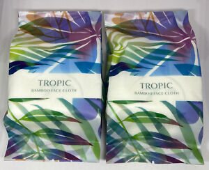 NEW SEALED 2 x TROPIC SKINCARE Bamboo Super Soft Face Cloth Flannel Towel ABC 🌱