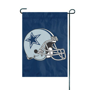"DALLAS COWBOYS EMBROIDERED GARDEN FLAG 12.5""X18"" YARD BANNER NFL LICENSED"