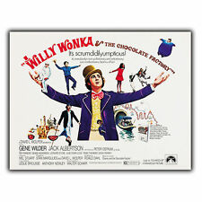 Willy Wonka Charlie Chocolate Factory METAL SIGN WALL PLAQUE Film Advert poster
