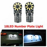 2X T10 4014 18 SMD LED Numero di targa Lampadine per luci bianco W5W 12V 6000K