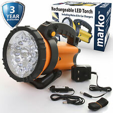 Rechargeable LED Spotlight Torch Lantern 16 LED Work Light Hand Lamp Flashlight