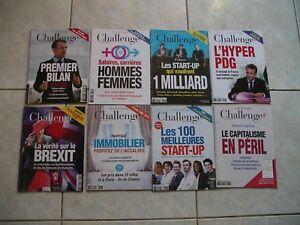 magazines CHALLENGES  2018  LOT DE 32 no