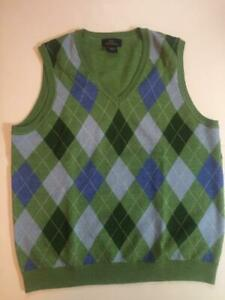 BROOKS BROTHERS 346 Boy's Argyle Sweater Vest Size Large EUC