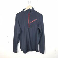 Nike Running Mens Thermal Half Zip Gray Long Sleeve Pullover Top Large
