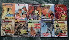 10 X COMMANDO WAR STORIES IN PICTURES,WAR COMICS,BULK LOT COLLECTION,9
