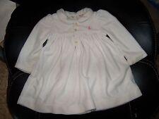 Ralph Lauren OFF WHITE LONG SLEEVE DRESS SIZE 6 MONTHS GIRL'S EUC