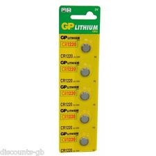 5 x GP CR1220 3V lithium Batteries  Dl1220 1220 - Pack of 5
