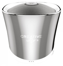 Creative Woof 3 Portable Bluetooth Mini Speaker with Built-in Microphone -Chrome