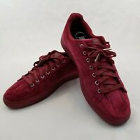 Puma Clyde Velour Ice Men's Sneakers Shoes Burgundy Red Size 13