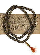 Collier mala chapelet rosaire tibetain corne de yak marron Ø 10mm Tibet-1925 -S3