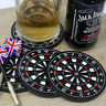4PCS Set Kitchen Utensils Dart Board Rubber Coaster Mug Cup Holder Coasters Mat