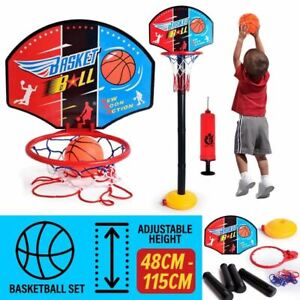 idrop 115CM Kid's Basketball Hoop Stand Game Set with Adjustable Height