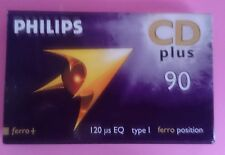 PHILIPS CD PLUS 60 FERRO POSITION BLANK CASSETTE TAPE - NEW SEALED