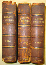 HISTORY OF THE UNITED STATES OF NORTH AMERICA W H BARTLETT 1856 III VOLUMES