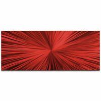 Original Abstract Art Colorful Artistic Starburst Contemporary Wall Decor