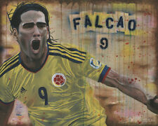 """Falcao Art, painting, Colombia, World Cup, Art Print 16x20"""""""