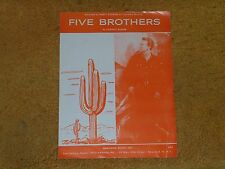 Marty Robbins sheet music Five Brothers 1960 4 pages (Vg+ shape)