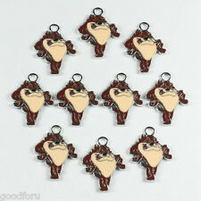 Lot 10pcs Looney Tunes Taz The Tasmanian Devil Metal Charm Pendants Jewelry DIY