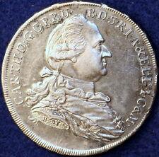 1778 Nice  High Grade Km-260.1 German States Barvaria Silver One Taler!!  #D0693