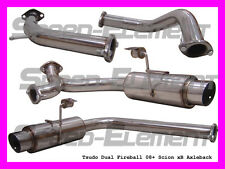 Manzo Stainless Steel Axleback Exhaust Fits Scion Xb 08 09 10 TP-CBS-SX01