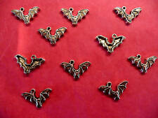 Tibetan silver bat charmes 10 Par Pack Halloween
