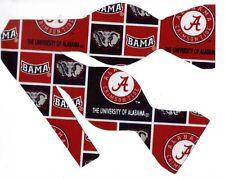 Alabama Bow tie (Blocks) BAMA Crimson Tide / Red & Black / Self-tie Bow tie