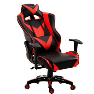 Gaming Computer Pc Chair Home Adjustable Gamer Chair Black Red Ergonomic Chair