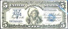 1899 $5  SILVER CERTIFICATE-INDIAN CHIEF-FR#275