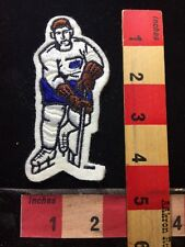 Embroidered Felt HOCKEY Player Patch WHITE WITH BLUE SHORTS Jersey Version 733
