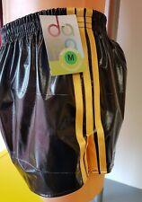 NEW LINE - PVC FOOTBALL Shorts Small to XXXXL 70s & 80s Retro, Black & Gold