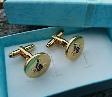 Premium Masonic Cufflinks Gold Black High Polished